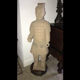 Terracotta Krieger Hebei nach Originalvorbild 105cm