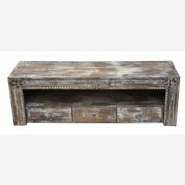 China TV Sideboard / Lowboard in Shabby Chic Silber