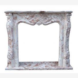 Bunter Marmorkamin Kamine Barocker Stil Umrandung Preise Kaminumrahmung