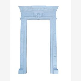 Raumhoher Marmor Rahmen weiss Kaminverkleidung Kamine Stil Tuerrahmen