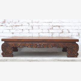 China traditionell flacher Opiumstil Tisch Couchtisch Pinienholz 1920