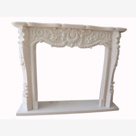 dream in white marble fire place camino marmo stilo barocco 150x120cm D heb 02