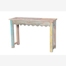 Kolonialstil schlanker Tisch recycled aus altem Fenster
