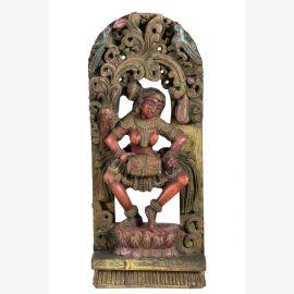 Indische Holzfigur original aus Goa