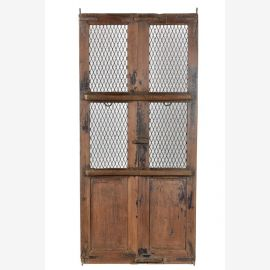 Schöne Jali Tür aus hellem Teakholz
