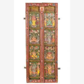 Edle Tür aus Indien mit Schnitzereien und Verziehrungen