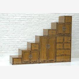Tangsu Treppenschrank mit Schubladen