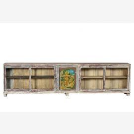 Indien 1910 300cm  Ladentheke Glasvitrine Kredenz 3m lang shabby chic Gujarat
