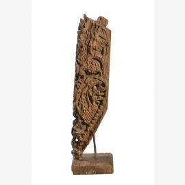 India um 1950 feine geschnitzte Skulptur auf Ständer Teakholz von Luxury-Park