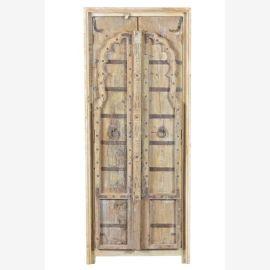 MANGO & TEAK Schrank Indien antike Tuer neuer Korpus Virgin wood