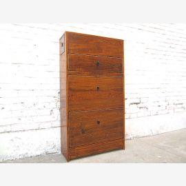 China dunkelbraune Flur Kommode Schuhschrank vintage Holz seitliche Schübe  im Kopfteil