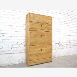 China cottage style Flur Kommode Schuhschrank helles Holz seitliche Schübe im Kopfteil