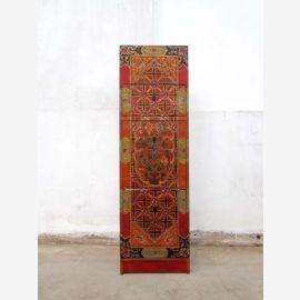 Schuhschrank Tibet fuer schmale Niche Handbemalt