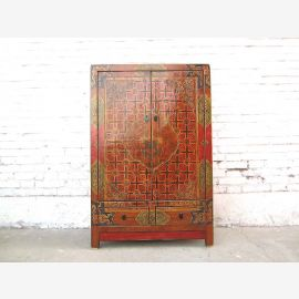 Asien Tibet klassische Kommode Kredenz halbhoher Schrank großartige Bemalung