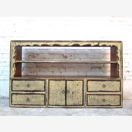 China Tibet 1910 Sideboard Regal schmutzweiß Pinie