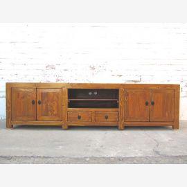 Asien TV Kommode Lowboard für Flachbildschirm honigbraun vintage Holz cottage style