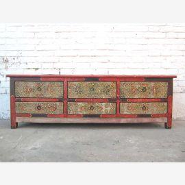 China TV Kommode Lowboard für Flachbildschirm zarte antike Handbemalung