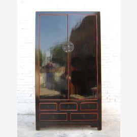 China Schrank Antiklack schwarz traditioneller Stil Pinienholz by Luxurypark