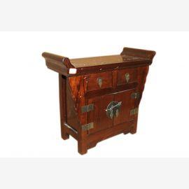 China vielseitiges Möbel Kommode Podest Hocker dunkles Massivholz