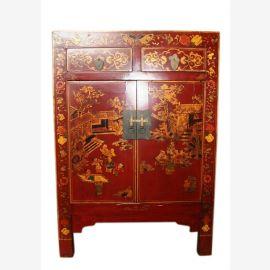 China Kommode Nachtschrank Schubladen & Türen klassisch lackiert