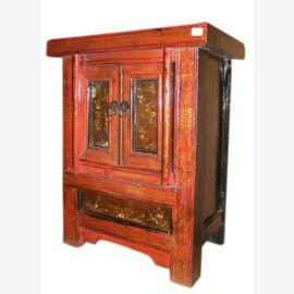 China 1880 kleine Kommode mit 2 Türen Nachtschrank Antik