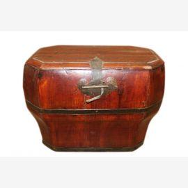 China 1930 kleine antike Truhe Box Metallbeschlag