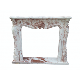 Marmorkamin Kamine Stil Barock Umrandung Kaminumrahmung Kaminfassade K082