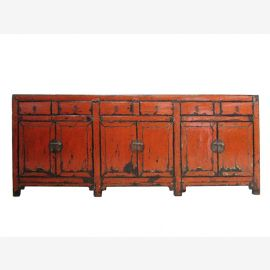 China Sideboard Antikfinish Rot XXL