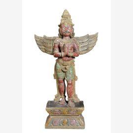 Skulptur  Holz Indien 1930 Luxury Park