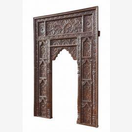 India Mughal Empire großer Fensterrahmen Bogen hoch geschnitztes Holz D ED-11-20. Es handelt sich hier um einen Bestellartikel. Das Objekt kann daher in jedem Detail nach Wunsch geändert werden.