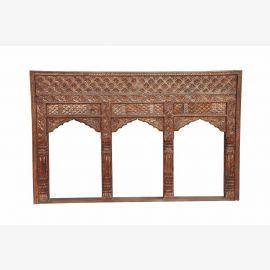 INDIA Mughal Empire Stil Dreier Bögen Fensterrahmen geschnitztes Holz D ED-11-23