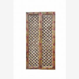 INDIA kleinen Holz Türverkleidung mit FRAMEWORK Zickzackausschnitt. Es handelt sich hier um einen Bestellartikel. Das Objekt kann daher in jedem Detail nach Wunsch geändert werden.