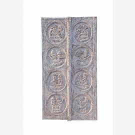 Schöne INDIA Rajasthan große geschnitzte KAMASUTRA Türverkleidung aus Naturholz