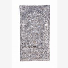 South India massives geschnitztes Wandbild Panel tanzende Göttin
