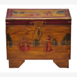India kleine Truhe Kassette Box traditionelle Bemalung Gujarat by Luxury Park
