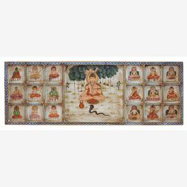 Indien Kopfteil Bett breites Wandbild mit traditionellen religiösen Motiven