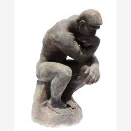 Skulptur Der Denker Auguste Rodin Statue Gußeisen bleifarben