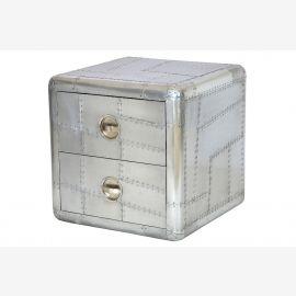 Möbel aus Alu Kommode zwei Schubladen Flugzeug recycling
