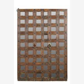India großer Fenster Rahmen mit Gitter geschnitzt Gujarat 1945