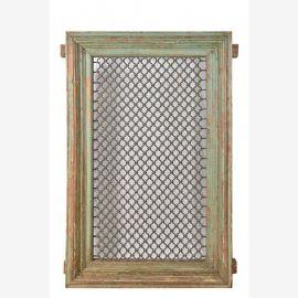 Old India 1935 mannshohes Fenster filigran vergittert Holzrahmen Rajasthan