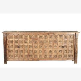 Indien extrem breite Konsole Sideboard Bar Theke aus beschnitztem Deckenpanel