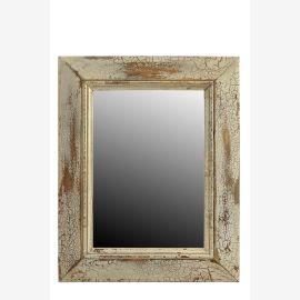 Indiaantiker  Spiegel quadratische Form Spiegel rosa Holzrahmen shabby chic Einrichtung