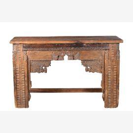 Old India massives Sideboard Konsole Beistelltisch herrschaftlich beschnitztes Frontdekor