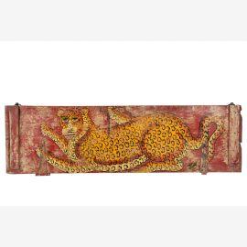 India typisches Wandbild mit Tiger Motiv Querformat Asien Dekor Einrichtung