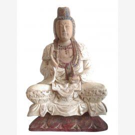 China Kwan Yin Sculpture antik 70j.