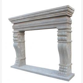Barock Marmor Kamin mit edlen Verzierungen