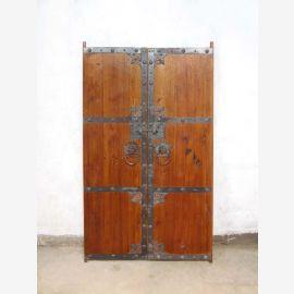 China seltenes Türpaar (2x Türen) antik ca. 80 Jahre alt