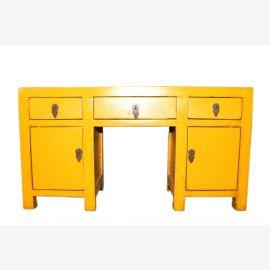 Gelbe Mini Konsole Asien Möbel Typisch China gelb