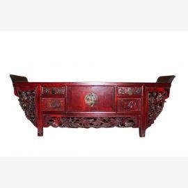 China Altarkonsole antik 80 Jahre alt Schnitzerei