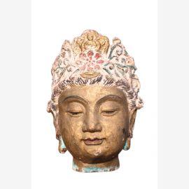 Kopf Guayin Godess aus massivem Metal sehr schwer